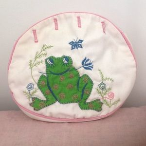 Vintage Bermuda Bag Purse Cover Frog  Butterfly